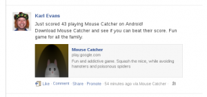 Mouse Catcher FaceBook Post